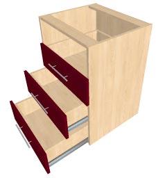 Монтаж фасадов на ящики способ 2