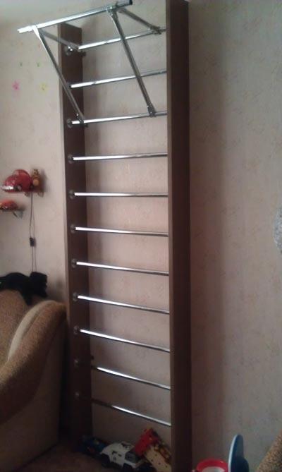 Шведская стенка своими руками в квартире фото