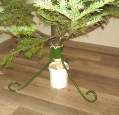 как поставить елку в воду