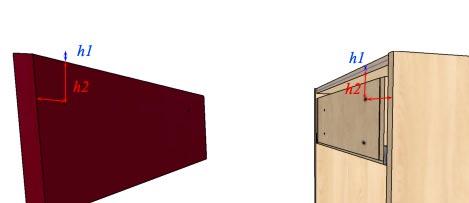 монтаж фасадов на ящики ящиков 3 способ