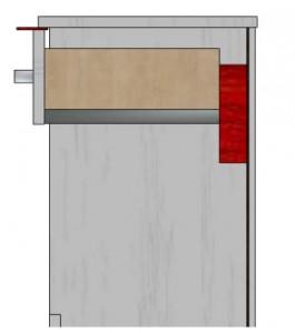 монтаж фасада на выдвижной ящик