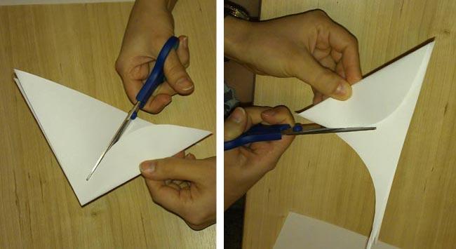 вырезаем снежинки из бумаги