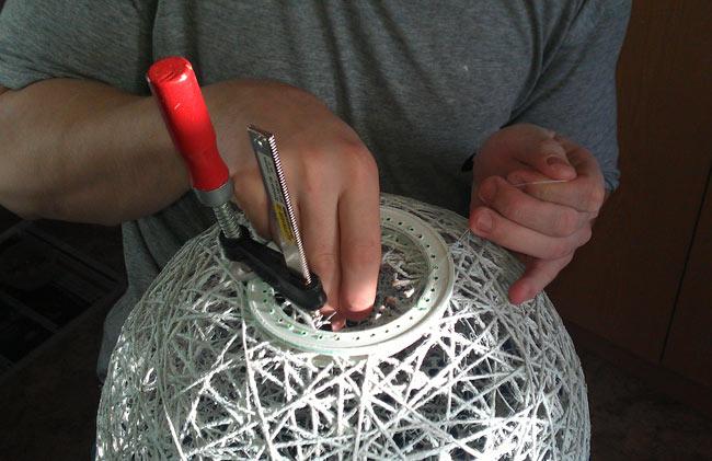 Лампа из нитки своими руками 153