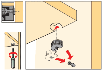 фурнитура эксцентрик стяжка схема