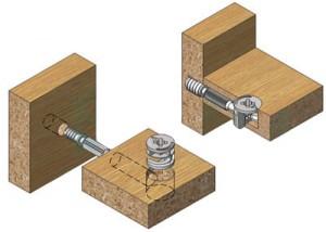 мебельная стяжка-минификс