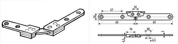ломберная петля схема