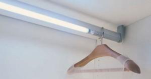 штанга для одежды с подсветкой