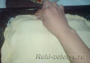 пирог из фарша с картофелем