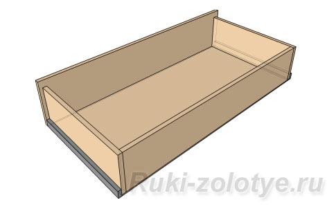 выдвижной ящик с фасадом на минификсах