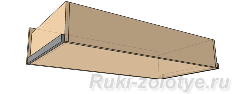 выдвижной ящик с накладным дном