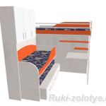 как сделать детскую трехярусную кровать