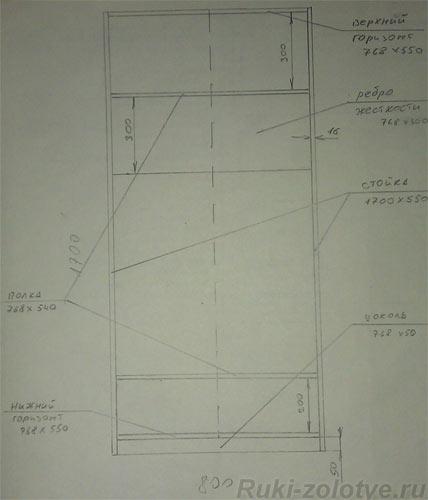 Чертим шкаф 4