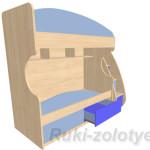 кроватка двухярусная вид слева