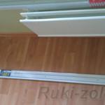 как повесить потолочную гардину