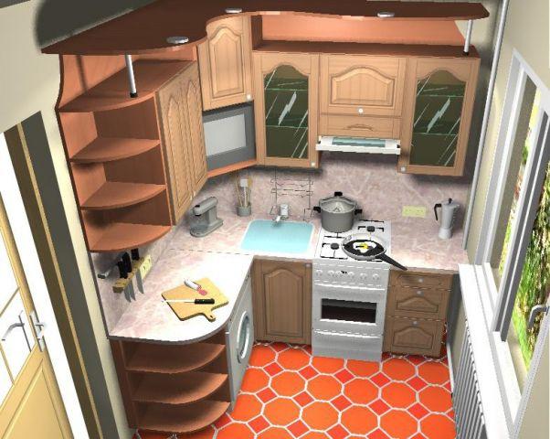 планирование маленькой кухни