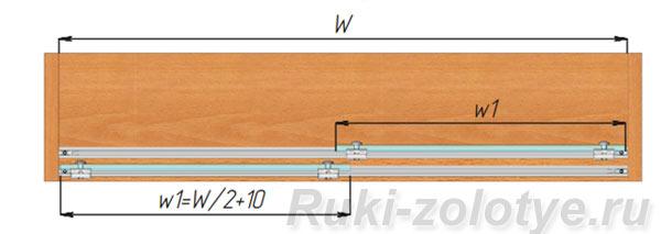 расчет ширины стеклянных фасадов cinetto PS03