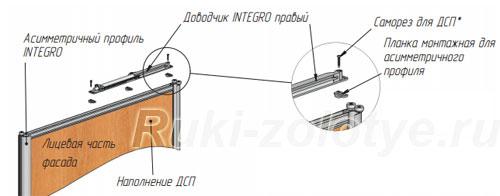 установка доводчика системы integro