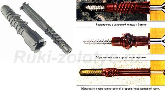 пружинно-спиральный дюбель