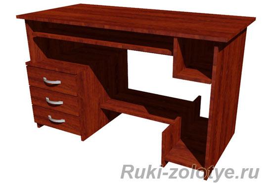 компьютерный стол с тумбой