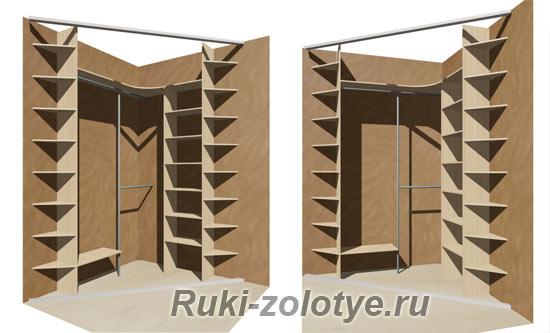 угловой треугольный шкаф-купе