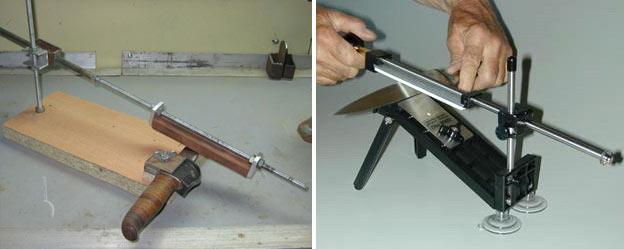 Приспособление для заточки ножей рубанков своими руками