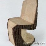 стул из полена