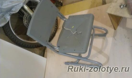 ремонт детского стула - продавленное сидение