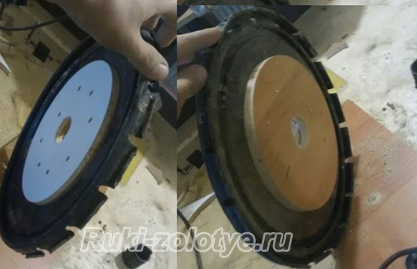 подготовка крышки-основания для фильтра