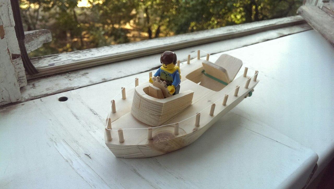 Сделать деревянный кораблик своими рукам