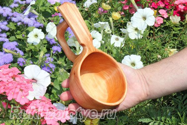 изготовление ковша из полена своими руками