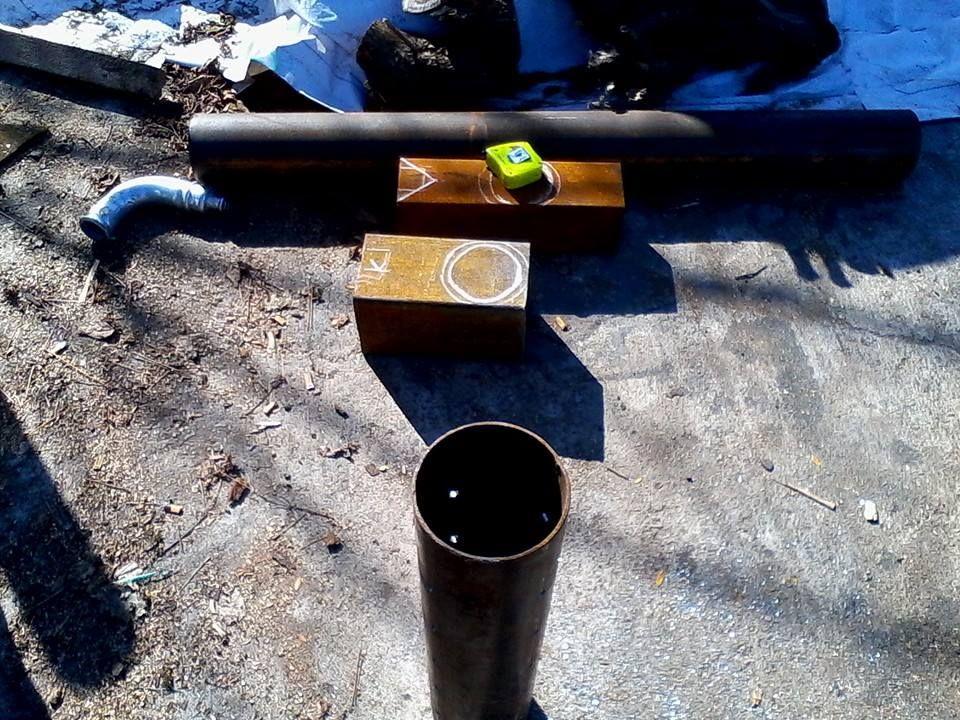 Печь на отработке из труб 81