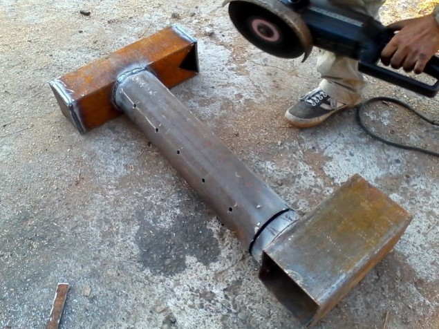 Печь на отработке из профильной трубы своими руками