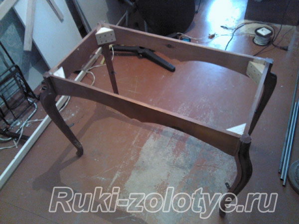 восстановление каркаса стола