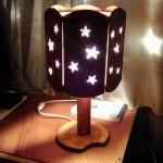 настольный светильник из фанеры своими руками