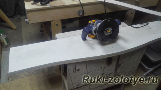 изготовление шаблона для фрезера с помощью фрезера