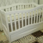кроватка для двух детей из массива сосны